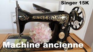 Présentation et mise en route de ma Singer 15k. Une machine datant de 1924 qui était au départ sur une table à pédalier, elle fut reconditionnée et électrifiée ...