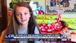 10-year-old girl's letter to Santa inspires drive to blanket children in need