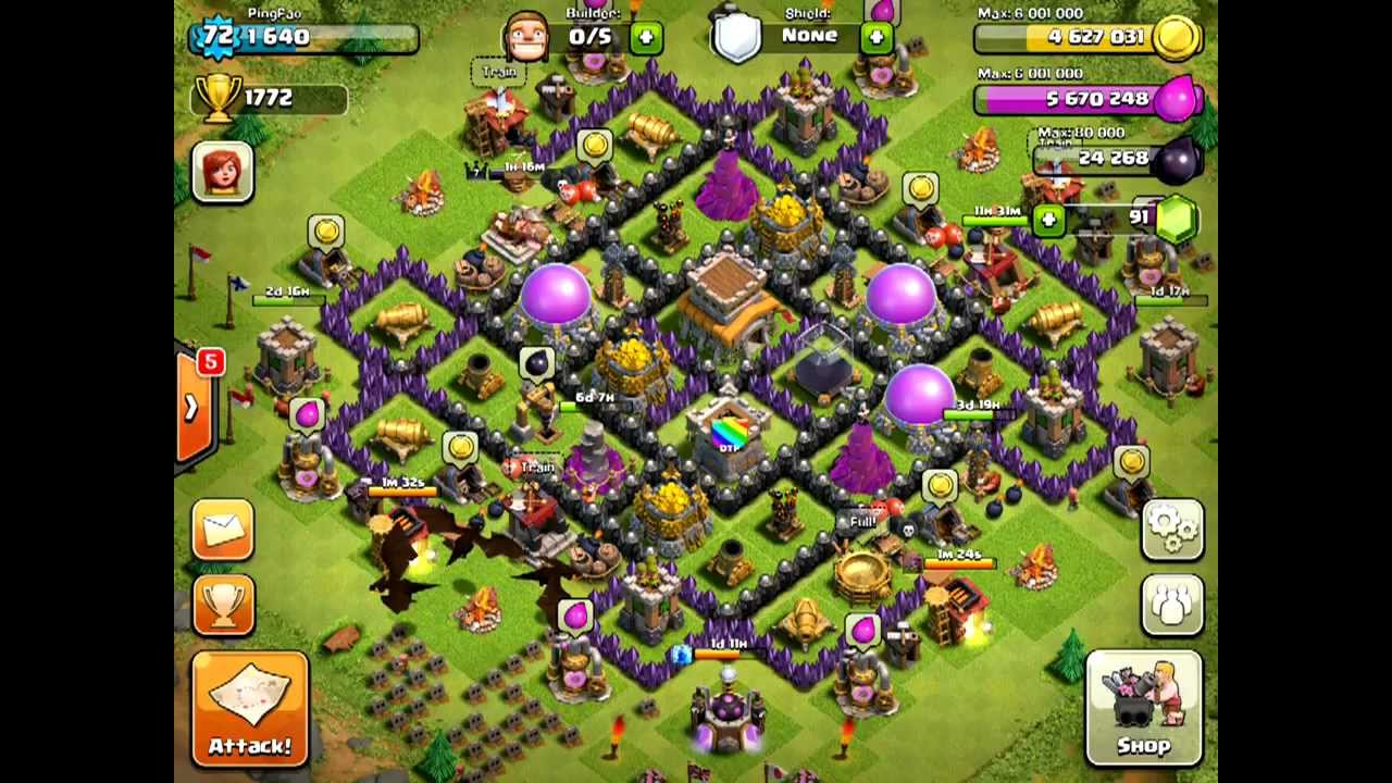 Trophy hunter minions barbarian king amp level 6 troops youtube