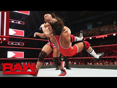 Kurt Angle vs. Chad Gable: Raw, March 18, 2019