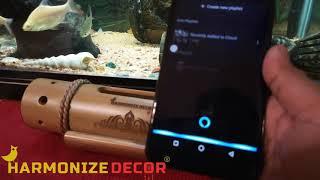 Harmonize Decor Bamboo Amplifier Speaker dock