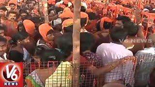 Devotees Throng To Kondagattu Anjanna Temple On The Eve Of Hanuman Jayanthi   V6 News