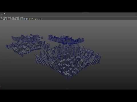 City Generator - Maya MEL Script