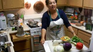 Marys Mexican Chile Colorado Meal! (Creamy Polenta, Tostitos) Part 2