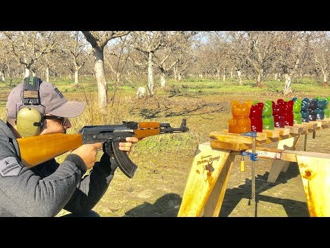 How many Giant Gummy Bears does it take to stop a bullet?