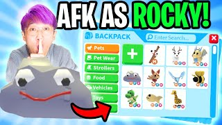 Can We Go AFK For 24 HOURS As ROCKY In ADOPT ME To Get FREE PETS!? (ACTUALLY WORKED!)