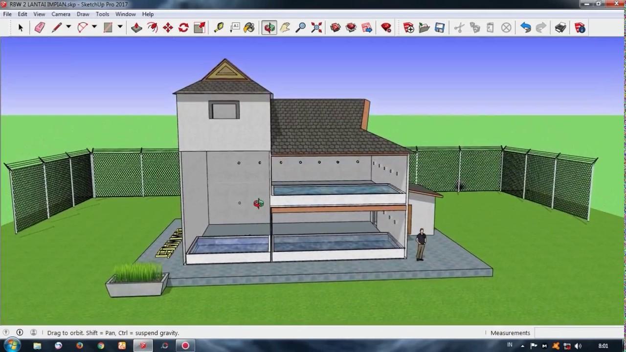 Desain Gedung Walet RBW 6x8 Meter 2 Tingkat YouTube