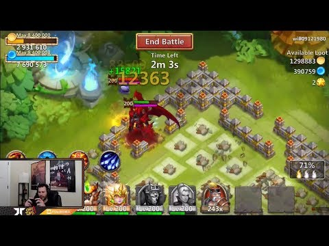 New Grimfiend SKIN Crimson Demon Super Cool Proc Castle Clash