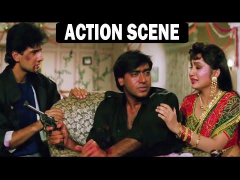 ज़ख़्मी हालत में अजय देवगन ने शादी करवाई | Ajay Devgn Hindi Action Scene | Dil Hai Betaab Scene