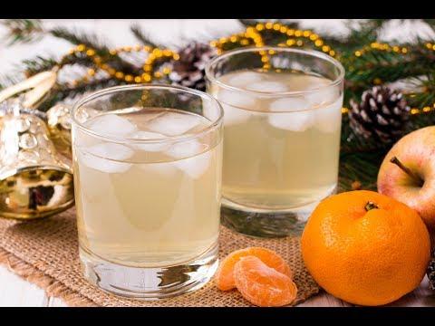 Яблочно-мандариновый компот с ванилью