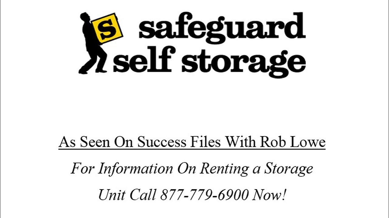 Safeguard Self Storage - As Seen on Success Files with Rob Lowe  sc 1 st  YouTube & Safeguard Self Storage - As Seen on Success Files with Rob Lowe ...