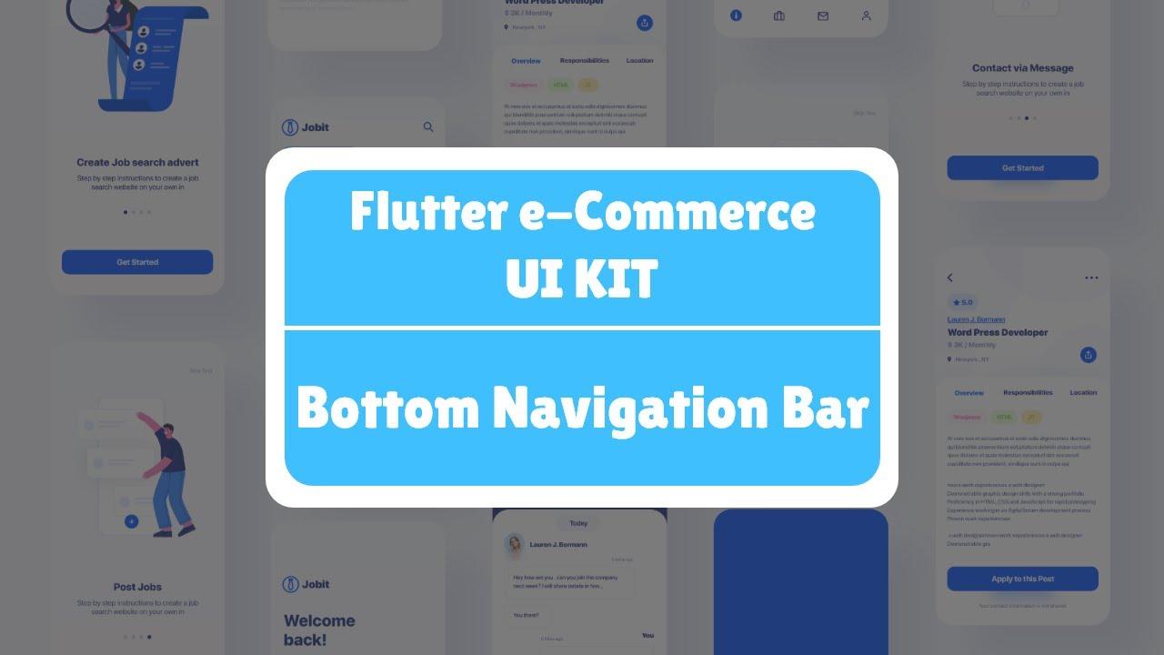 Flutter eCommerce UI Kit - Bottom Navigation Bar