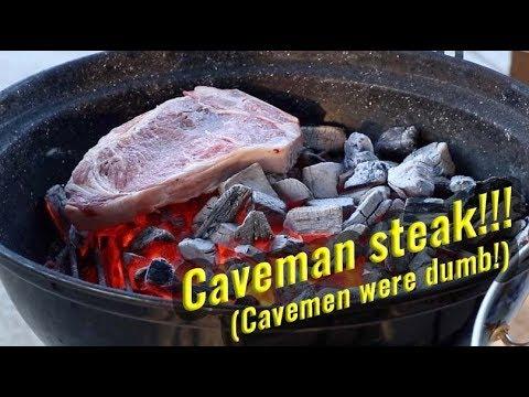 Caveman Steak vs Slow 'N Sear steak | Alton Brown steak on coals | Weber Jumbo Joe Performer