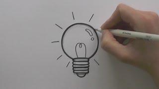 How to Draw a Cartoon Lightbulb