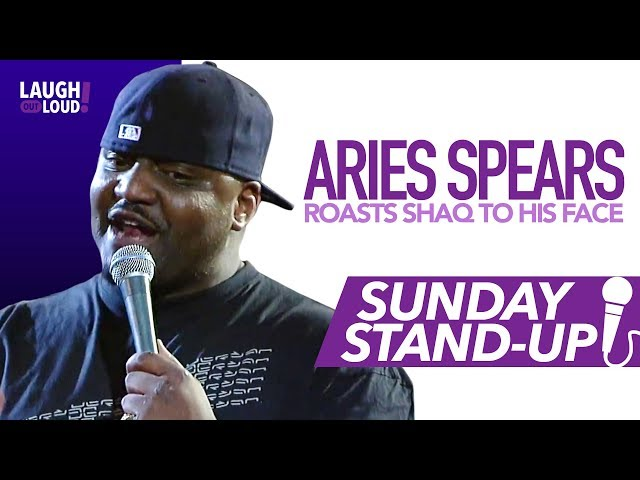 Aries Spears Roasts Shaq to His Face    Sunday Stand-up   LOL Network