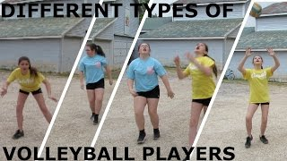 DIFFERENT TYPES OF VOLLEYBALL PLAYERS