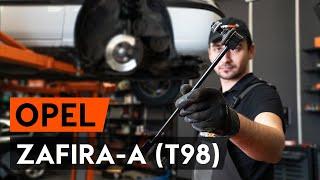 Cómo cambiar Travesaños barras estabilizador OPEL ZAFIRA A (F75_) - vídeo gratis en línea