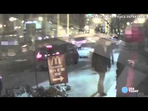 Surveillance video captures Marine being kicked, robbed