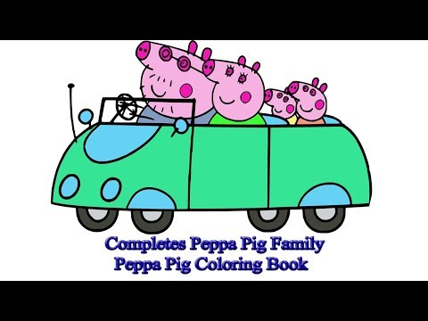 Completes Peppa Pig Family | Peppa Pig Coloring Book