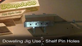 Diy Doweling System - Drilling Adjustable Shelf Holes