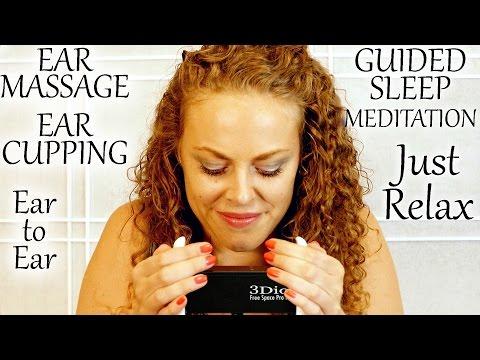 👂Oh So Good! Ear Massage, Ear Cupping & Ear to Ear Whisper Relaxation & Sleep Hypnosis