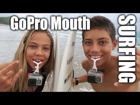 Double GoPro Mouth Mount Surfing
