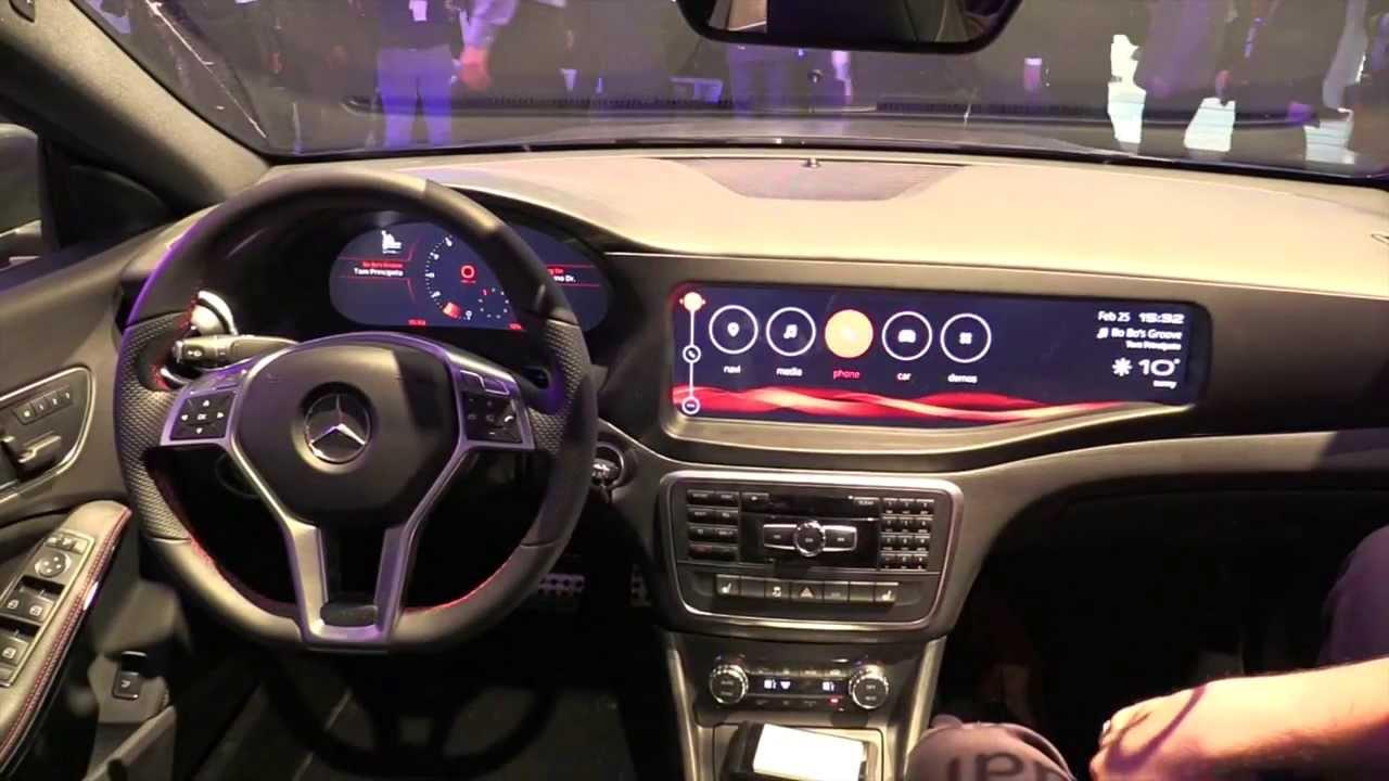 Qnx Futuristic Infotainment Inside The Mercedes Benz Cla
