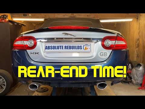 Rebuilding A Wrecked Jaguar XK 5.0 Porfolio Convertible Part 5 (Update, The Rear)