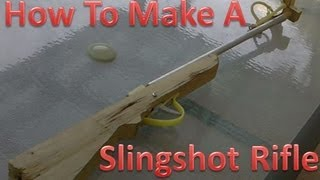 How To Make A Slingshot Rifle, Crossbow  POWERFULL!!!!