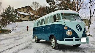 雪道もへっちゃら!レストアしたばかりの1965年式VW typeⅡ