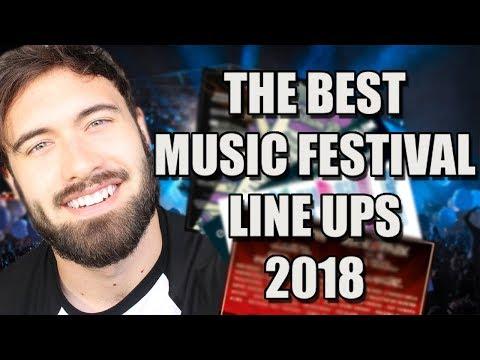 The BEST Music Festival Line Ups 2018