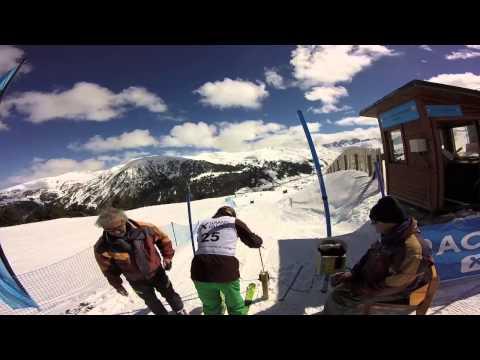 Helmet Cam Slalom Race Soldeu Grandvalira 18/03/16