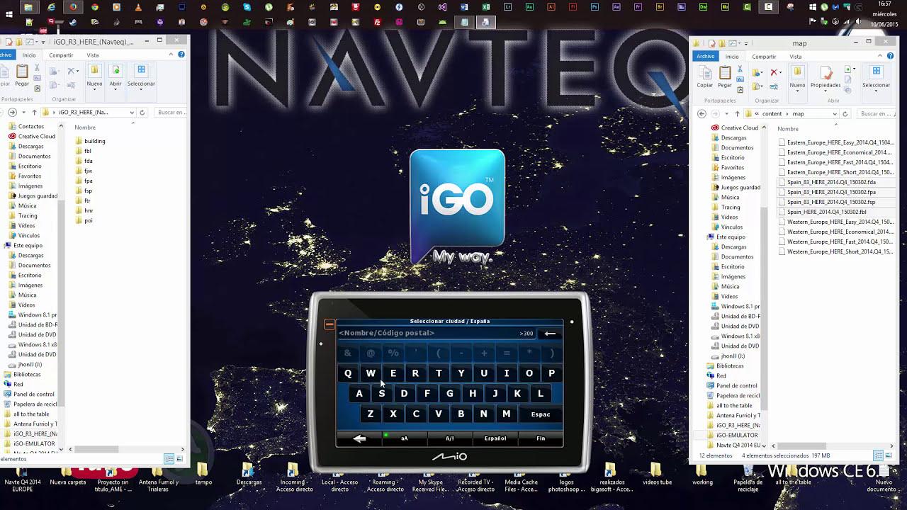 Igo R3 Here Navteq Europe Q4  + Actualizar Mapas En Igo8
