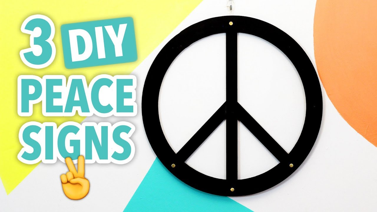 3 Diy Peace Signs Hgtv Handmade Youtube