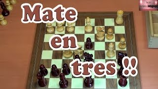 Jaque mate en tres movimientos. Entrenamiento de ajedrez. Cap 10