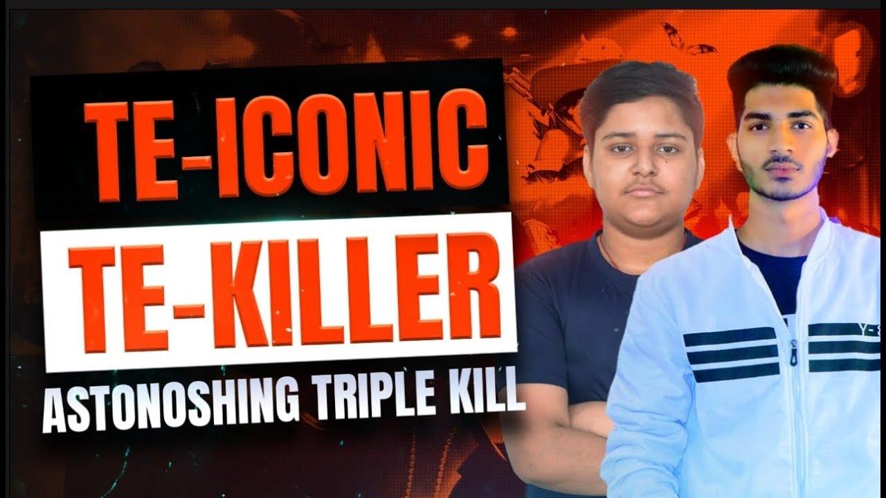Free Fire   TE-Iconic, TE-Killer Astonishing Triple Kill   Best Plays from GTVWS Season 44