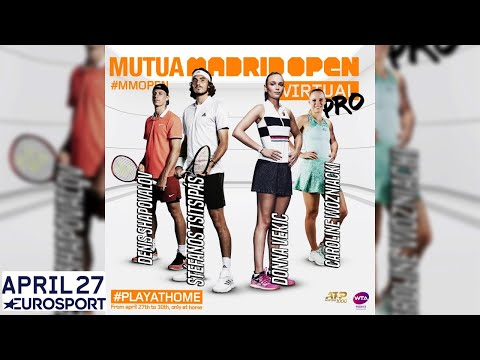 ��Mutua Madrid Open Virtual Pro | Day 1 | Livestream | Eurosport