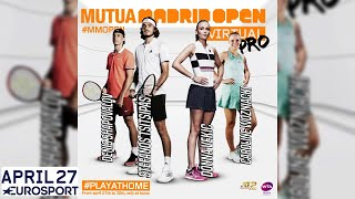 Game TV Schweiz - 🔴Mutua Madrid Open Virtual Pro | Day 1 | Livestream | Eurosport
