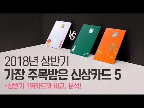 2018 상반기를 빛낸 신상 신용카드 5종 추천