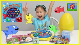 Let's Go Fishing Surprise Toys Challenge and Learn Colors Too!