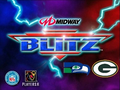 NFL Blitz PlayStation Gameplay - Seattle Seahawks vs. Green Bay Packers