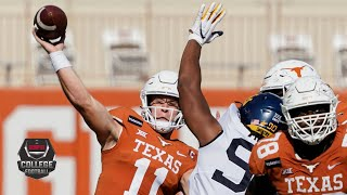 Check out highlights of sam ehlinger and the no. 22 texas longhorns as they host west virginia mountaineers in big 12 play during week 10 2020 col...
