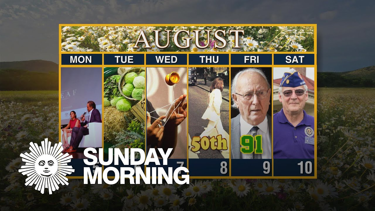 Calendar: Week of August 5