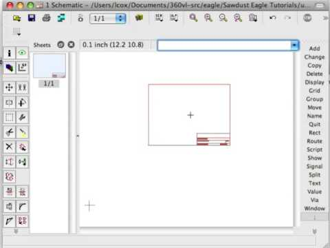 Eagle CAD Tip #2 - Selection and Movement of Parts on a Schematic ...