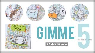 Gimme 5 With Penny Black Summertime Critters