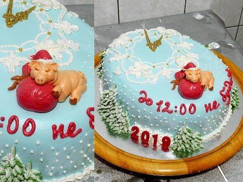 ТОРТ НА НОВЫЙ ГОД КАБАНА 2019 от SWEET BEAUTY СЛАДКАЯ КРАСОТА, NEW YEAR CAKE DECORATION