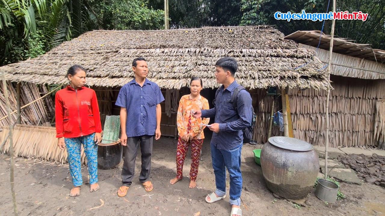 Hai Chị Em bị câm sống bằng nghề đan rổ ở trong căn nhà lá siêu vẹo thật tội nghiệp |CSQMT 11/7/2020