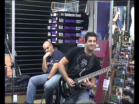 Dejan plays 'Satch Boogie' Ibanez Guitars Capalaba Music 2010.wmv