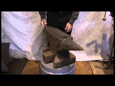 374 lb cast steel North German anvil
