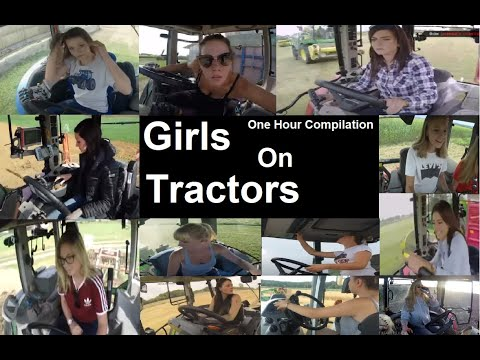 Girls Driving Tractors 1 Hour+ Compilation